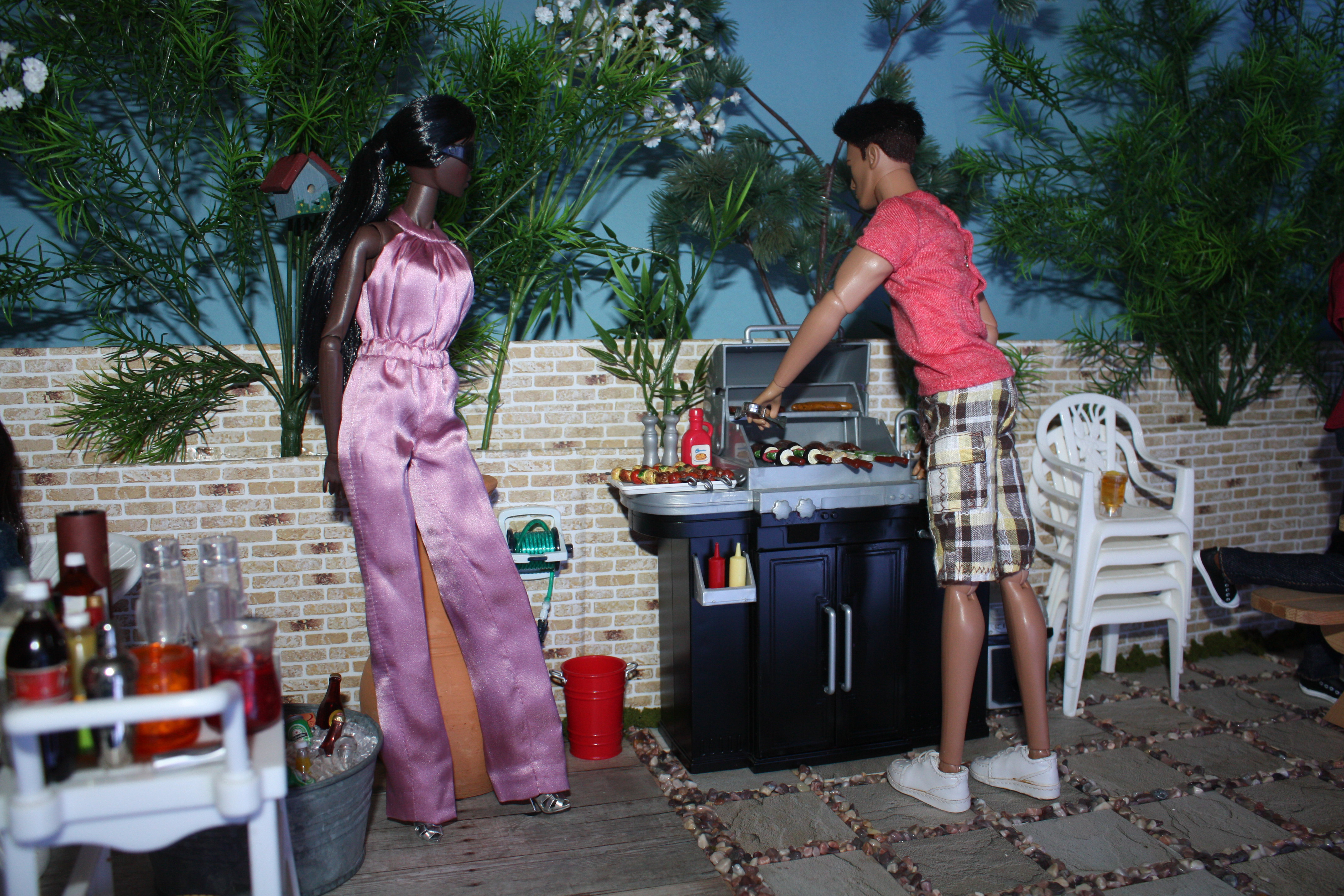 Barbeque on roof